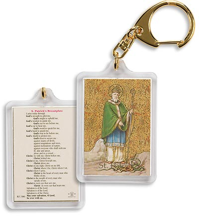 St. Patrick (Breastplate Prayer) Keychain